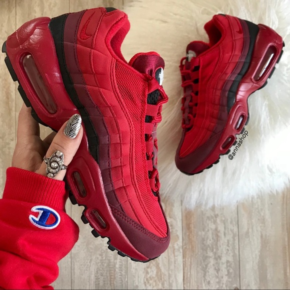 detailed images new photos pretty cheap Nike Shoes | Nwt Id Air Max 95 Custom Red Rose Avenue | Poshmark